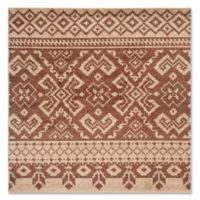 Safavieh Adirondack 4-Foot Square Accent Rug in Camel/Chocolate