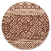 Safavieh Adirondack 6-Foot Round Area Rug in Camel/Chocolate