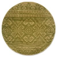 Safavieh Adirondack 6-Foot Round Area Rug in Green/Dark Green