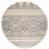 Safavieh Adirondack 8-Foot Round Area Rug in Ivory/Silver