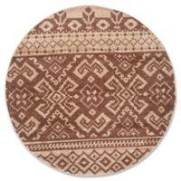 Safavieh Adirondack 8-Foot Round Area Rug in Camel/Chocolate