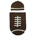 So 'dorable Crochet 2-Piece Football Hat and Cocoon Set in Brown