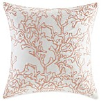 Harbor House 18-Inch x 18-Inch Seaside Coral Throw Pillow in Coral/White