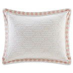 Harbor House Seaside Coral Standard Pillow Sham in Coral/White