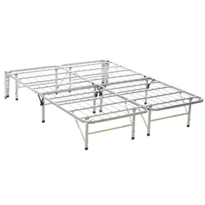 beautyrest bedder base queen bed frame in silver