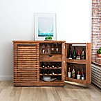 Zuo® Modern Linea Bar Cabinet in Walnut