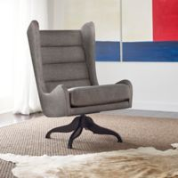 Tommy Hilfiger® Helios Swivel Wingback Chair in Grey