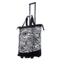 Olympia® USA Fashionista 20-Inch Rolling Shopping Tote in Zebra