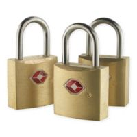 Lewis N. Clark® Travel Sentry® Mini Brass Padlock (Set of 3)