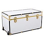Mercury Luggage/Seward Trunk 31-Inch Oversize Foot Locker in White