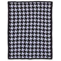 NoJo® Roar Houndstooth Knit Blanket in Black/White