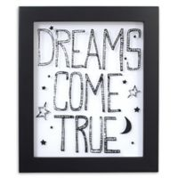 """NoJo® Roar """"Dreams Come True"""" Wall Art in Black/White"""
