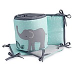 Lambs & Ivy® Animal Crackers 4-Piece Crib Bumper in Grey/Teal