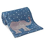 Lambs & Ivy® Animal Crackers Jungle Blanket in Blue/Grey