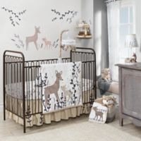 Lambs & Ivy® Meadow Deer 3-Piece Crib Bedding Set in Tan/White