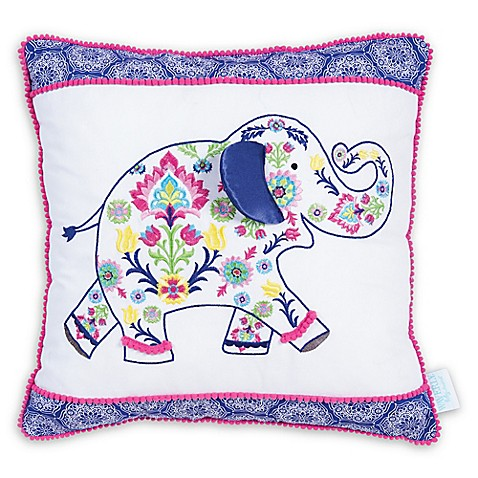 Elephant Throw Pillow Bed Bath And Beyond : Waverly Baby by Trend Lab Santa Maria Henna Elephant Throw Pillow - Bed Bath & Beyond