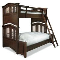 SmartStuff Classics 4.0 Twin-over-Full Bunk Bed in Cherry