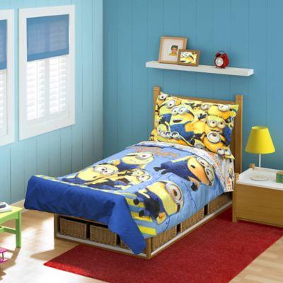 toddler bedding sets u003e babyboom minions mishaps 4piece toddler bedding set
