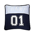 "Lambs & Ivy® Future All Star ""Champ"" Square Throw Pillow in Blue/White"