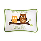 Lambs & Ivy® Woodland Tales Throw Pillow in White/Green