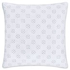 Piper & Wright Lucy Eyelet Square Throw Pillow in White