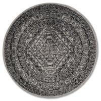 Safavieh Adirondack 4-Foot Round Accent Rug in Silver/Black