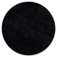 Safavieh Laguna Shag 6-foot7-Inch Round Rug in Black