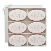 Carved Solutions 6-Pack Signature Spa Inspire Monogrammed Oval Satsuma Bar Soap