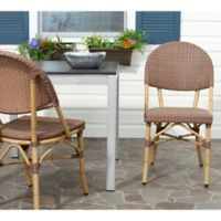Safavieh Barrow 2-Piece Wicker Stacking Side Chair Set in Brown (Set of 2)