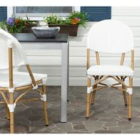 Safavieh Barrow 2-Piece Wicker Stacking Side Chair Set in Off-White (Set of 2)