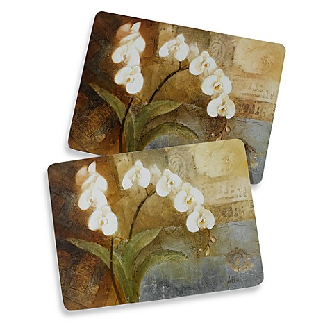 Cork Backed Orchid Placemats Set Of 2 Bed Bath Amp Beyond