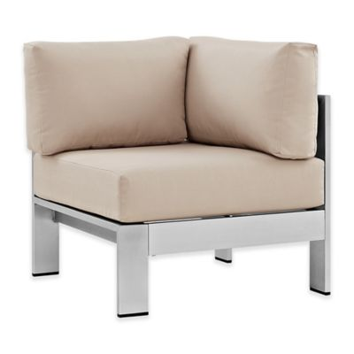 corner seating furniture. modway shore outdoor patio corner sofa in silverbeige seating furniture t