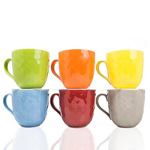 Yedi Morning Glories 20 oz. Mugs in Assorted Colors (Set of 6) - Bed ...