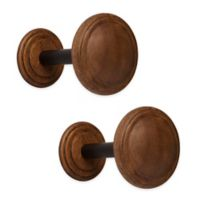 Umbra® Wood Drapery Spindle in Walnut
