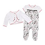 Just Born® Madeline Size 3M 2-Piece Footie and Jacket Set in White