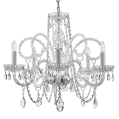 Swarovski® Crystal Trimmed 5-Light Chandelier in Clear