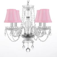 4-Light Swarovski® Crystal Trimmed Plug-In Chandelier
