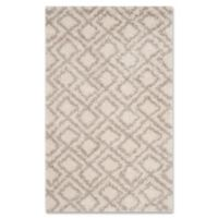 Safavieh Arizona 3-Foot x 5-Foot Shag Area Rug in Ivory/Beige