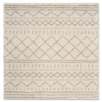 Safavieh Arizona 6-Foot 7-Inch Square Shag Area Rug in Ivory/Beige