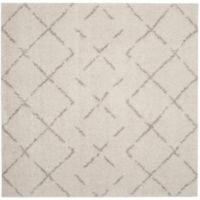 Safavieh Arizona Shag 6-Foot 7-Inch Square Area Rug in Ivory/Beige