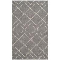 Safavieh Arizona Shag 3-Foot x 5-Foot Accent Rug in Grey/Ivory