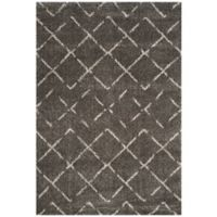 Safavieh Arizona Shag 4-Foot x 6-Foot Accent Rug in Brown/Ivory