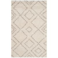 Safavieh Arizona Shag 4-Foot x 6-Foot Accent Rug in Ivory/Beige