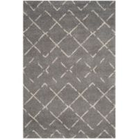 Safavieh Arizona Shag 6-Foot 7-Inch x 9-Foot 2-Inch Area Rug in Grey/Ivory