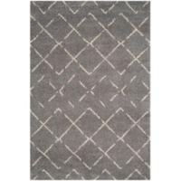 Safavieh Arizona Shag 8-Foot x 10-Foot Area Rug in Grey/Ivory