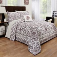 Dreamcatcher Reversible Twin Quilt in White/Purple