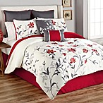 Sheila 8-Piece King Comforter Set in Red