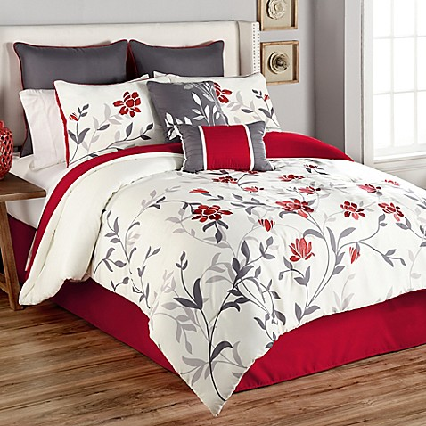 Sheila 8 piece comforter set bed bath beyond - Bed bath and beyond bedroom furniture ...