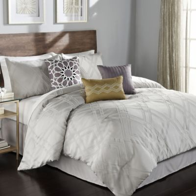 callie 7piece full comforter set in grey - California King Bed Sheets