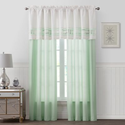Palm Light Window Curtain Panel Pair In Green